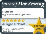 Siegel_ ProduktScoring 2015_ degenia_ premium_ familie